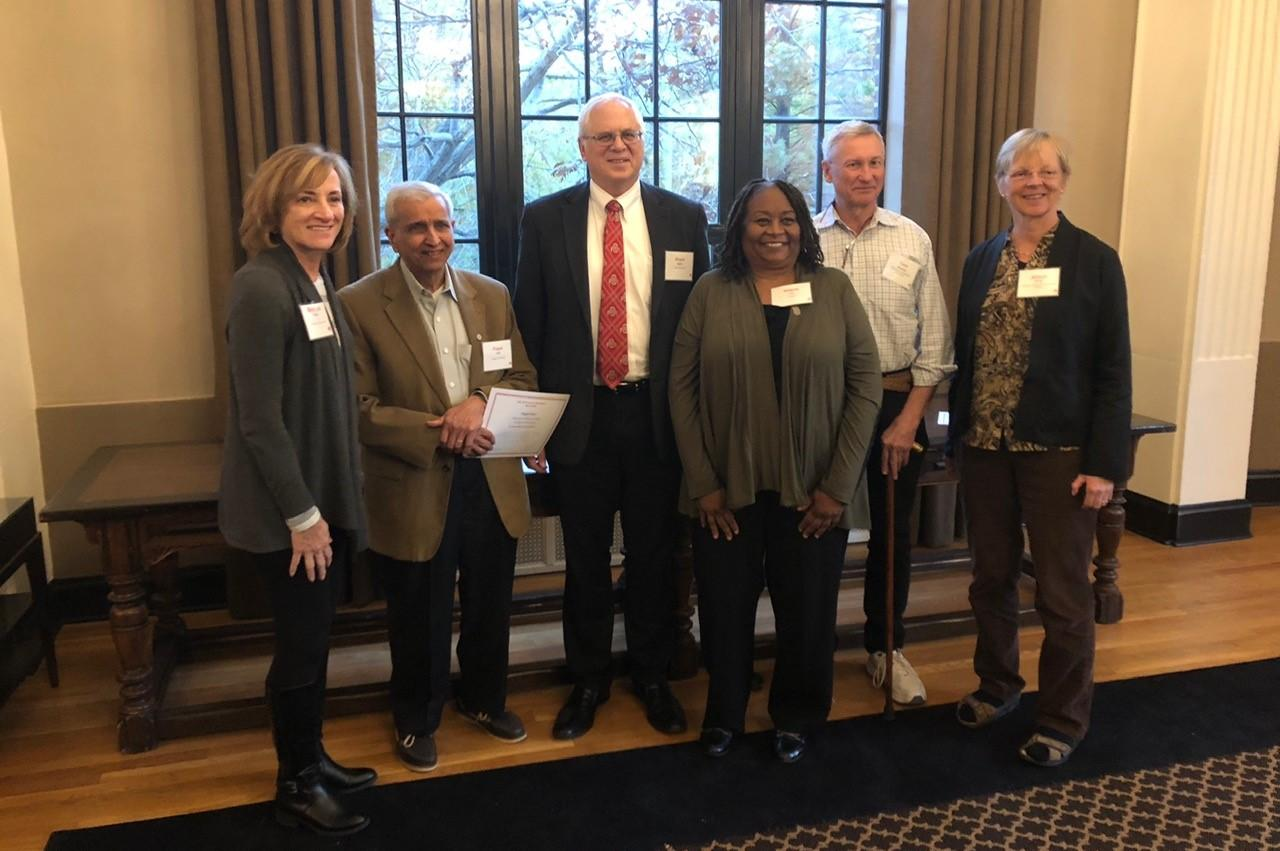 Newly inducted members of the Emeritus Academy pictured with committee chair Mary Jo Fresch